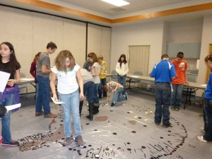 2012 Seminar for Gifted Students at Northwest Kansas Education Service Center in Oakley, using the Pawnee earthlodge investigation.