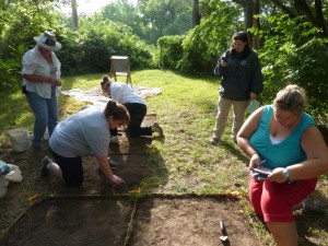 Teachers learn the basics during the optional field exercise on the weekend.