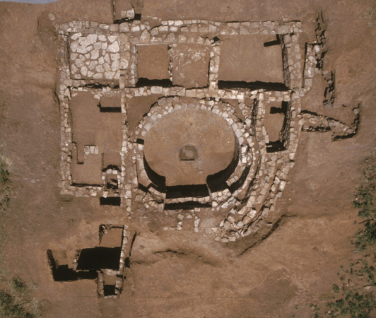 Puzzle House following the 1993 excavation. Photo courtesy of Fort Lewis College.
