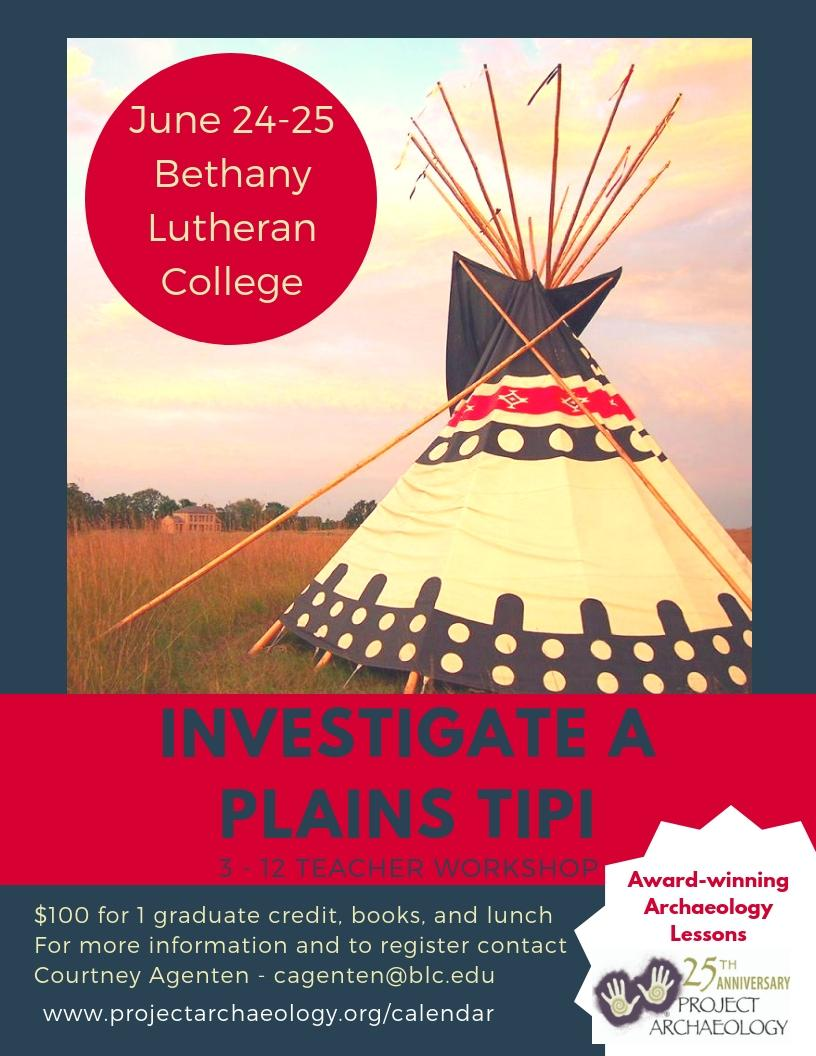 Investigate a Plains Tipi Workshop @ Bethany Lutheran College
