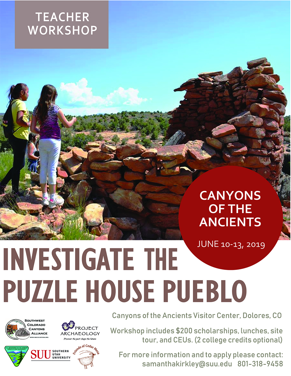 Canyons of the Ancients Educator Workshop @ Canyons of the Ancients Visitor Center