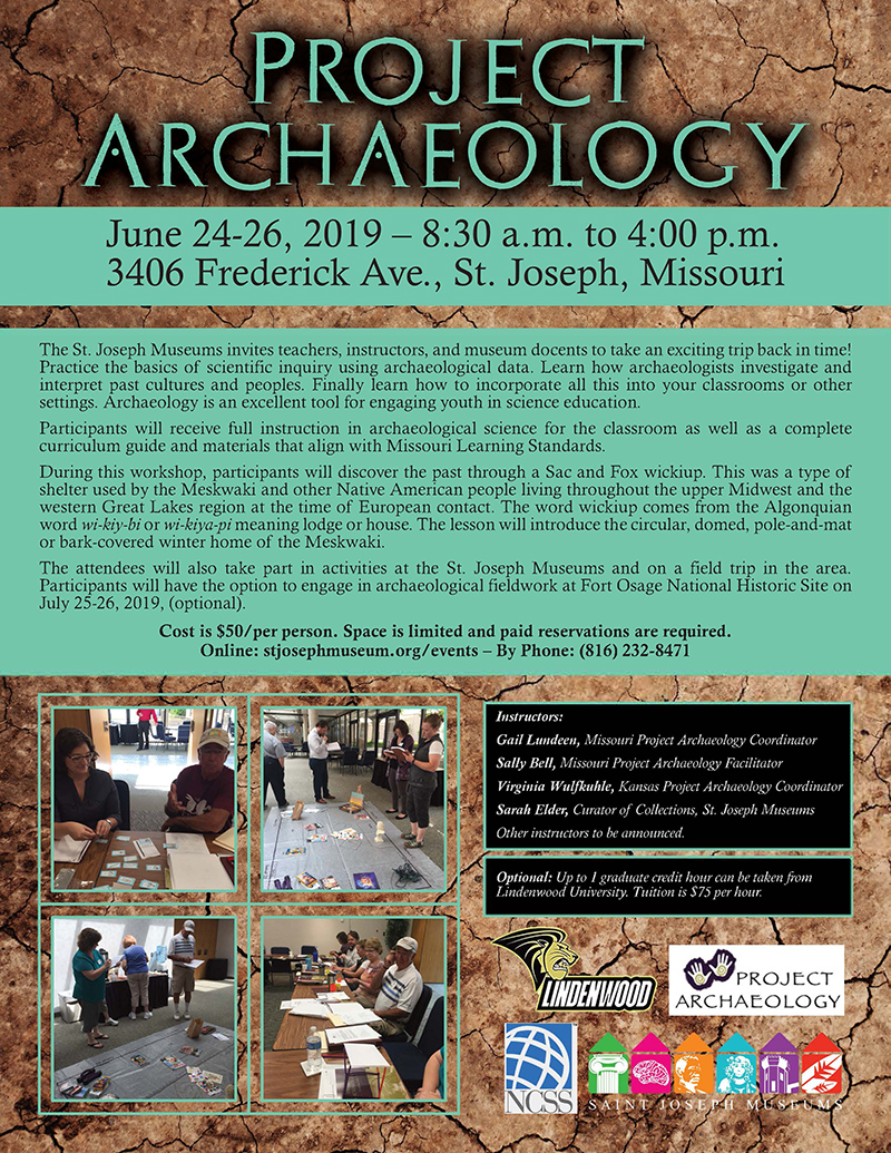 Project Archaeology Workshop @ St. Joseph Museums