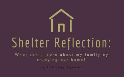 Shelter Reflection: What can I learn about my family by studying our home?