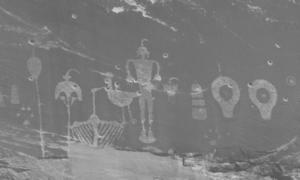 Photo of rock art from Utah, courtesy of Bob Wick.
