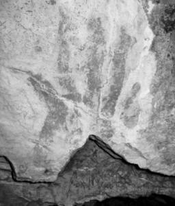 Photograph of rock art, courtesy of Zane Fulbright