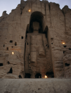 One of the Buddhas of Bamiyan (Photo from Thomas J. Abercrombie/National Geographic)