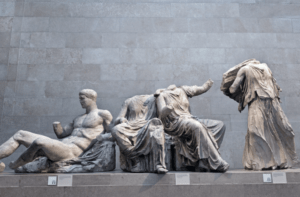Elgin Marbles in the British Museum (Photo from Tony French/Alamy)